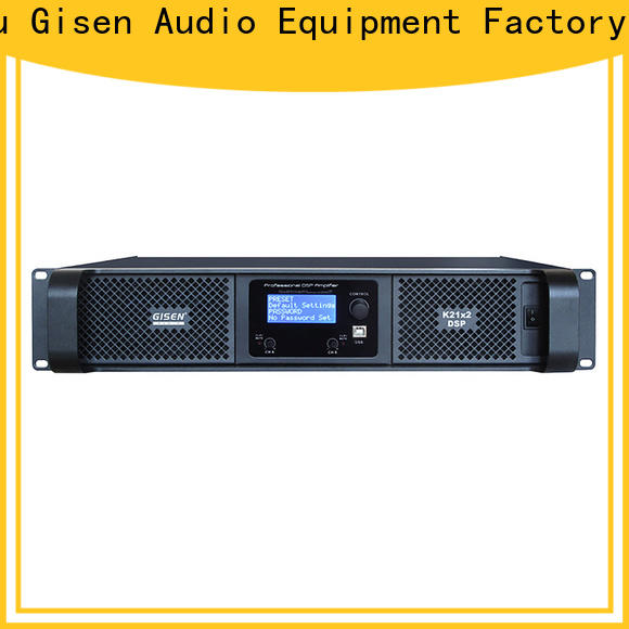 Gisen power multi channel amplifier manufacturer for stage