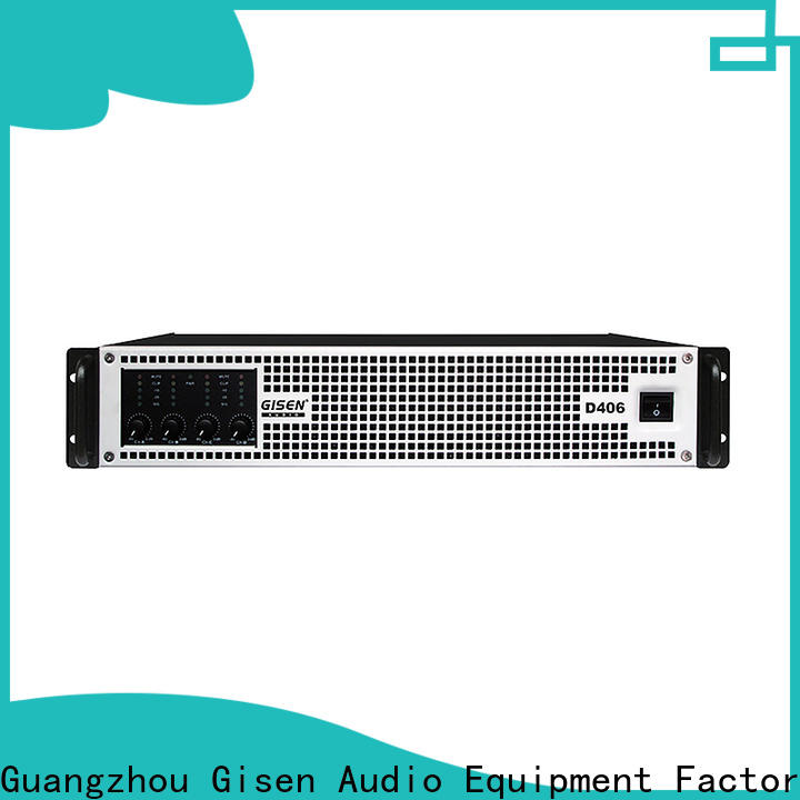 Gisen digital class d audio amplifier fast delivery for stadium