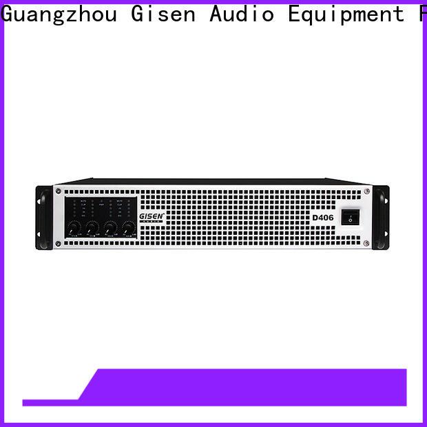 Gisen guangzhou class d digital amplifier manufacturer for stadium