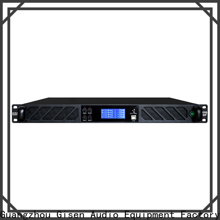 Gisen 4 channel dsp amplifier factory for stage
