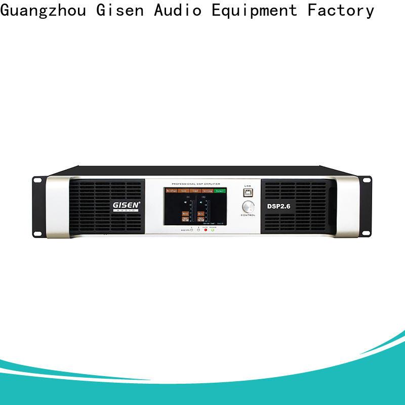 Gisen touch screen multi channel amplifier wholesale for venue