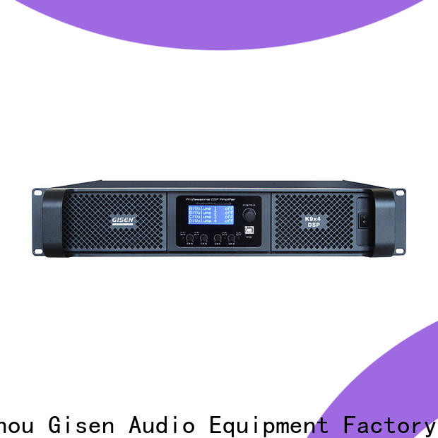 Gisen 2 channel 1u amplifier factory for performance