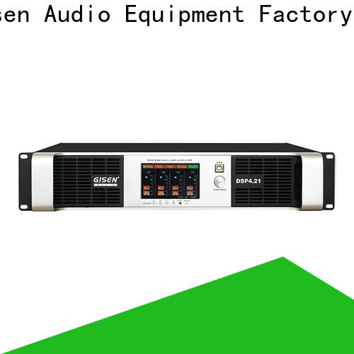 Gisen touch screen dj power amplifier wholesale for stage