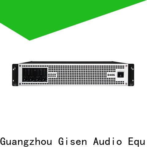 Gisen class class d stereo amplifier manufacturer for stadium