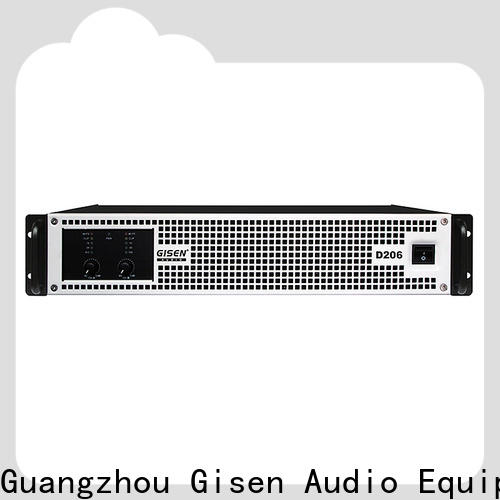 Gisen advanced class d stereo amplifier fast delivery for stadium