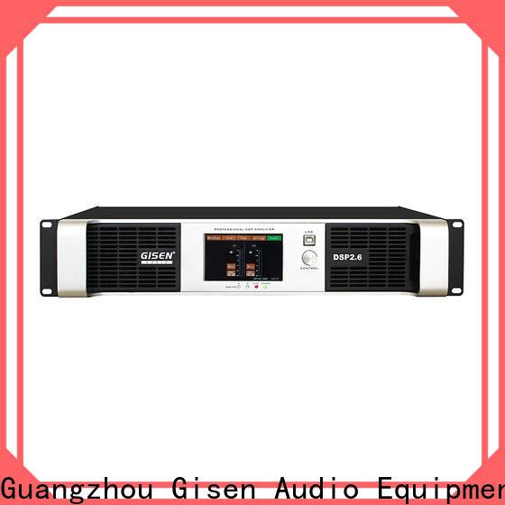 Gisen touch screen dj power amplifier supplier