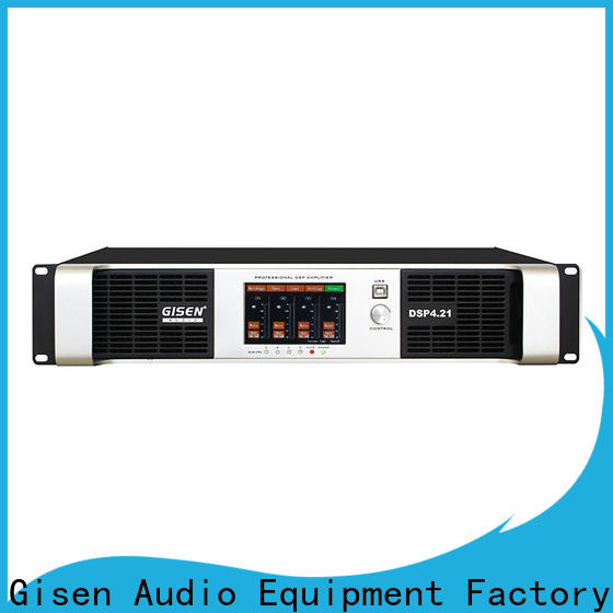 Gisen high quality dsp amplifier supplier for various occations