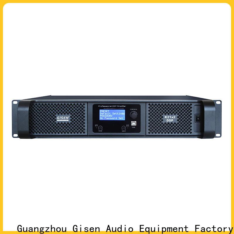 Gisen 2100wx2 dsp amplifier manufacturer for venue