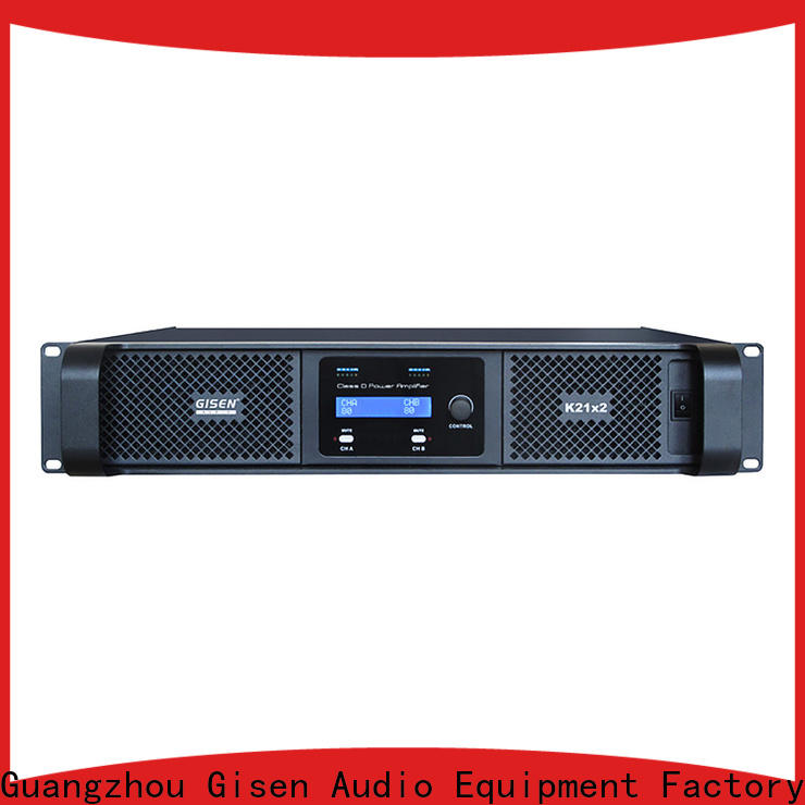 Gisen high efficiency home stereo power amplifier manufacturer for stadium