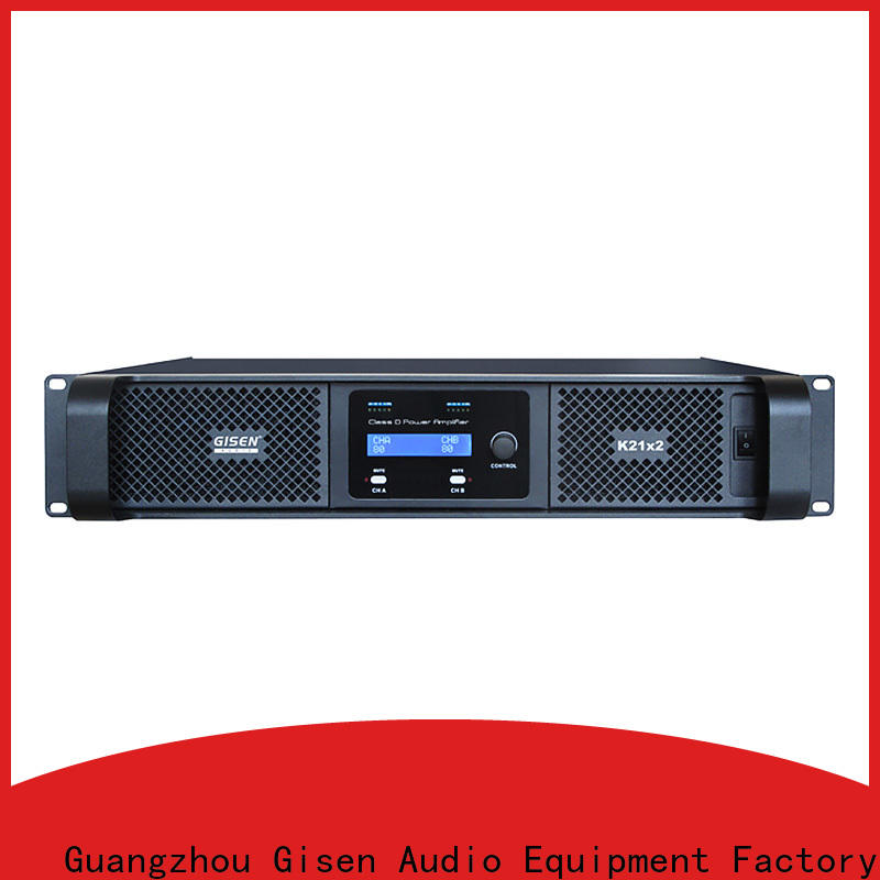 Gisen high efficiency digital audio amplifier manufacturer for meeting