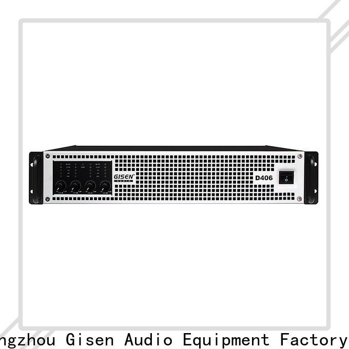 Gisen high efficiency class d power amplifier manufacturer for stadium