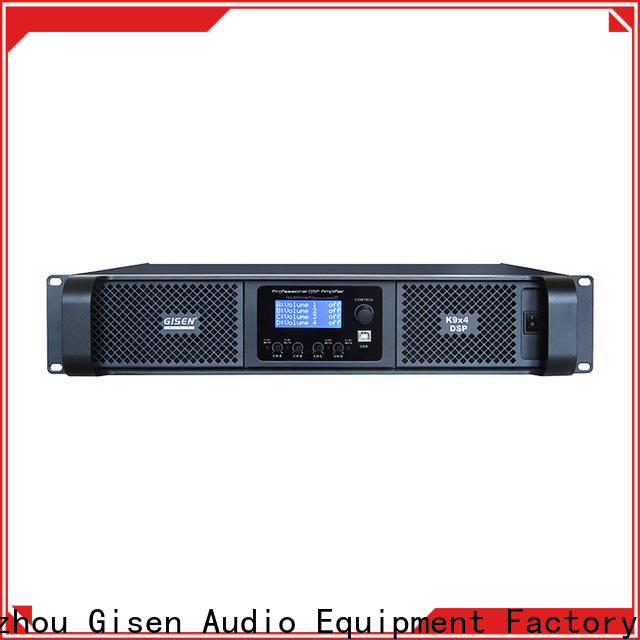 Gisen 4 channel dsp amplifier manufacturer for performance