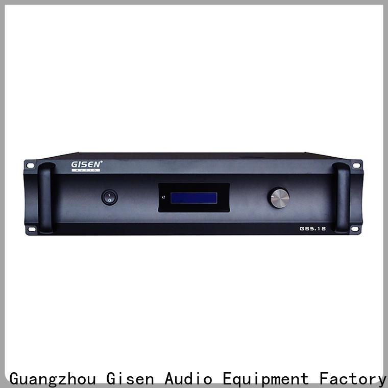 Gisen oem odm stereo power amplifier exporter for ktv