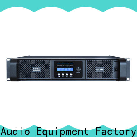 Gisen 2100wx4 class d stereo amplifier fast shipping for stadium