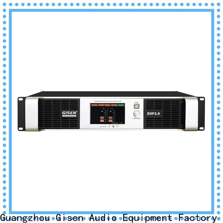 Gisen multiple functions dsp amplifier manufacturer for venue
