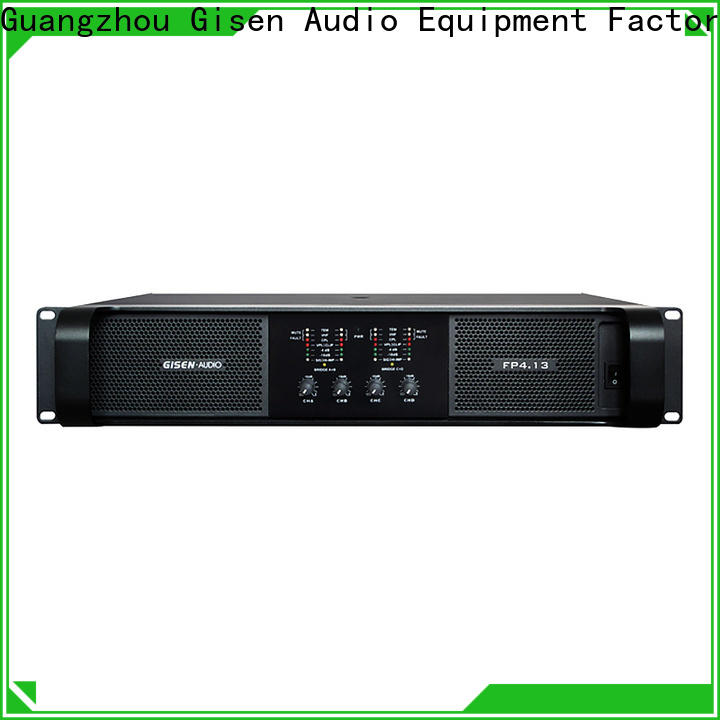 Gisen unrivalled quality professional amplifier one-stop service supplier for night club