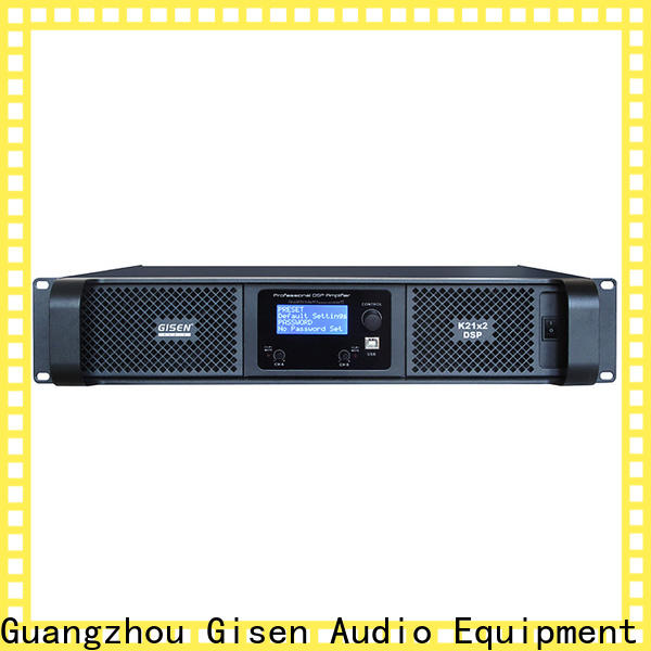 Gisen multiple functions amplifier power manufacturer for stage