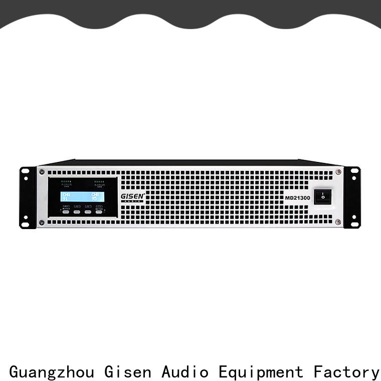 Gisen power stereo amp overseas market for conference
