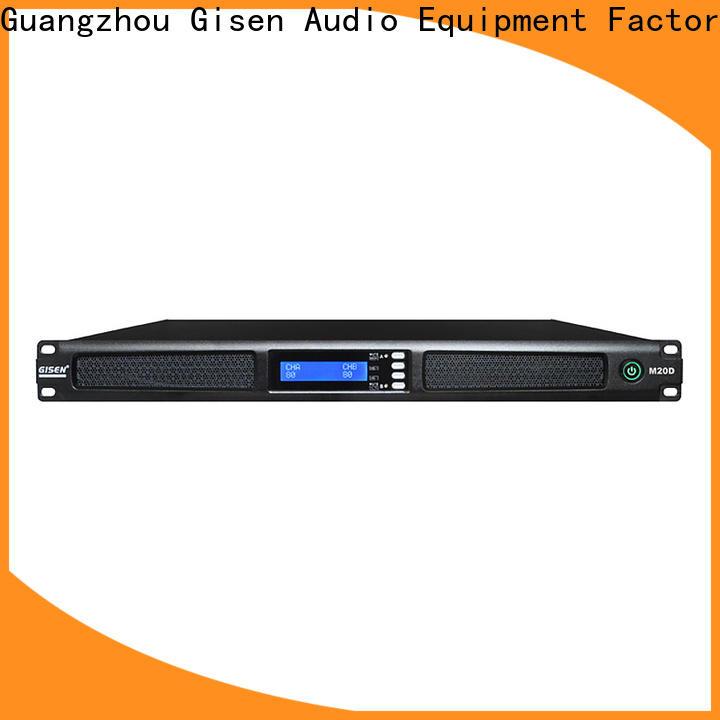 Gisen power 4 channel amplifier supplier for venue