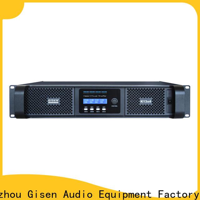 Gisen digital top 10 power amplifiers manufacturer for stadium