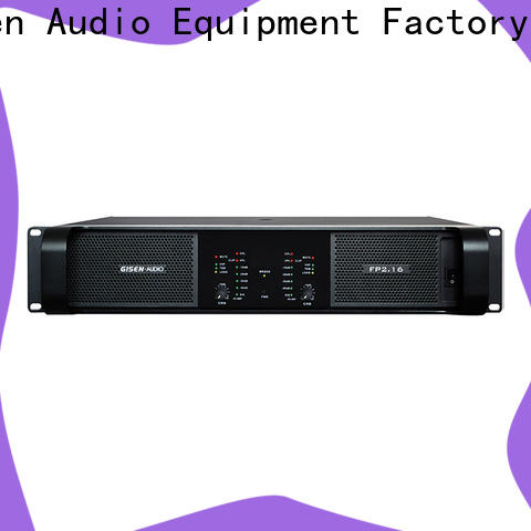 Gisen 4x1300w stereo amplifier one-stop service supplier for performance