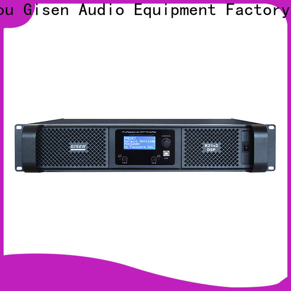 Gisen high quality homemade audio amplifier factory for stage
