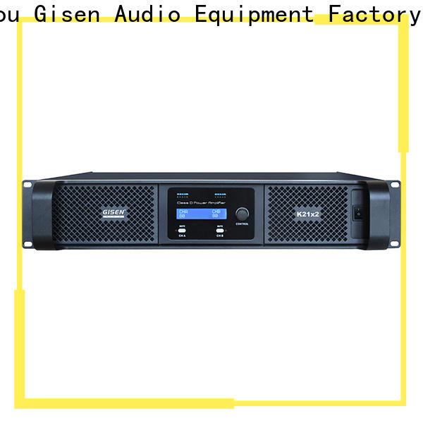 Gisen guangzhou class d amplifier supplier for entertaining club