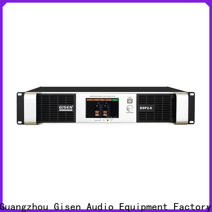 Gisen multiple functions dsp power amplifier manufacturer for stage
