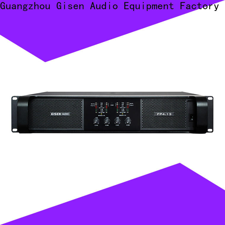 Gisen popular stereo amplifier one-stop service supplier for night club