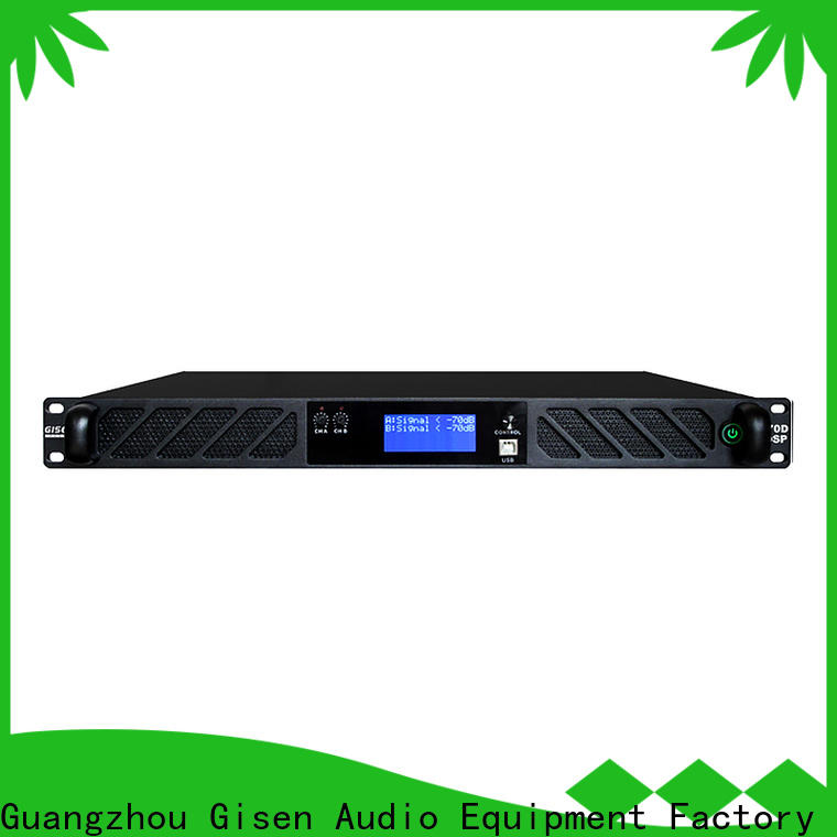 Gisen multiple functions dsp power amplifier wholesale for performance