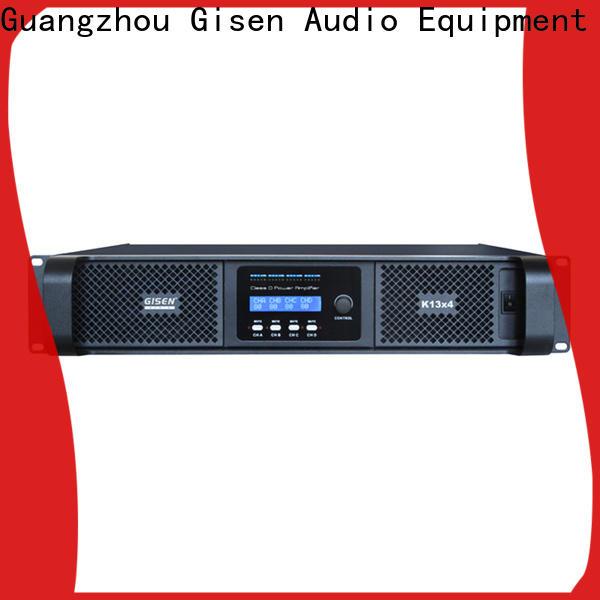 Gisen guangzhou class d power amplifier manufacturer for stadium