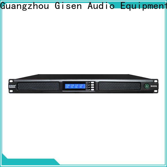 Gisen 4 channel power amplifier manufacturer for entertainment club