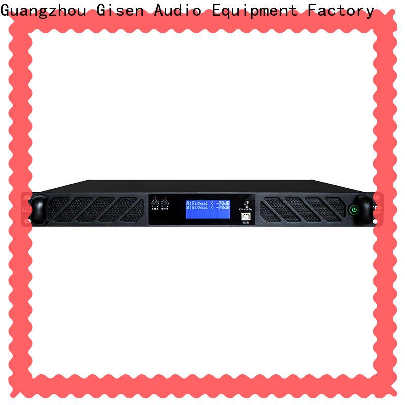 Gisen multiple functions desktop audio amplifier manufacturer for venue