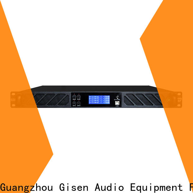 Gisen multiple functions dsp power amplifier manufacturer for performance