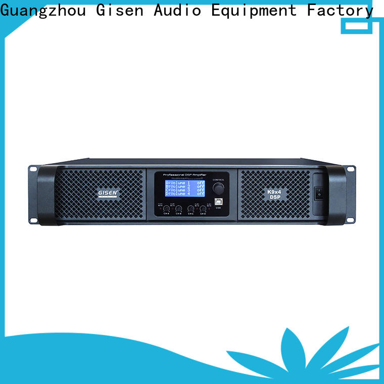 Gisen high quality amplifier sound system factory for venue