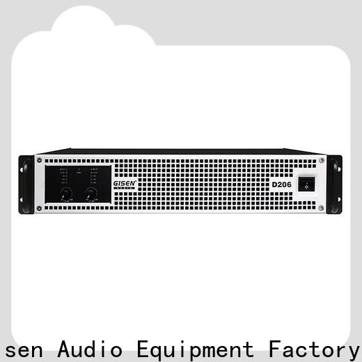 Gisen guangzhou hifi class d amplifier fast delivery for stadium