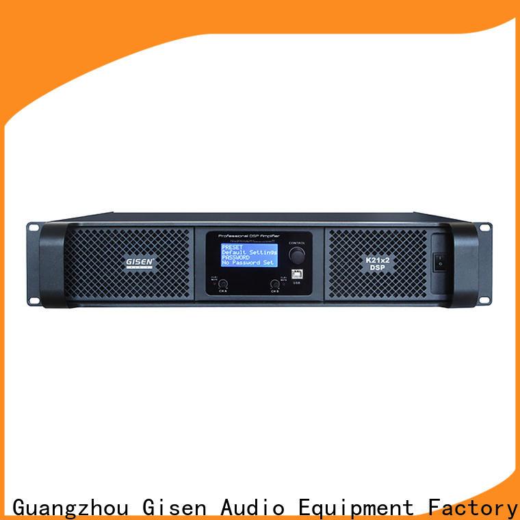 Gisen 2 channel direct digital amplifier manufacturer for stage