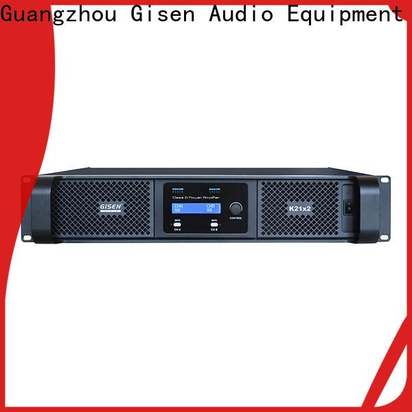 Gisen 8ohm best class d amplifier supplier for entertaining club