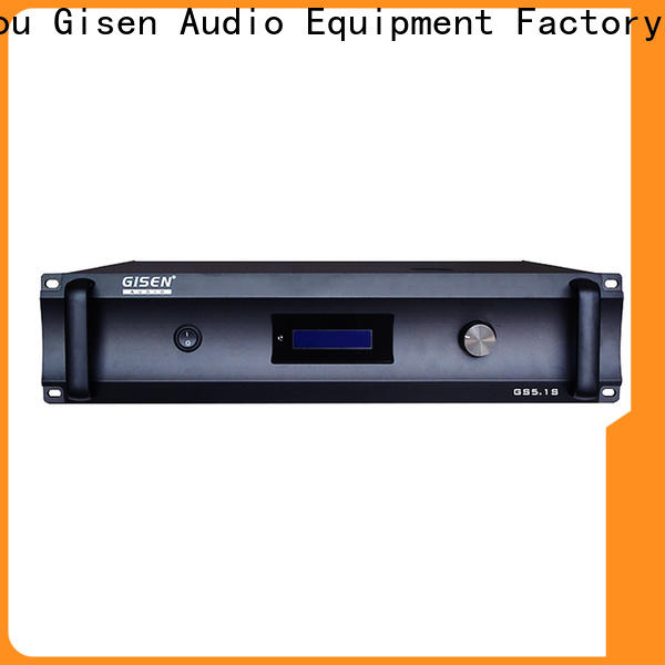 Gisen low distortion integrated stereo amplifier supplier for home theater