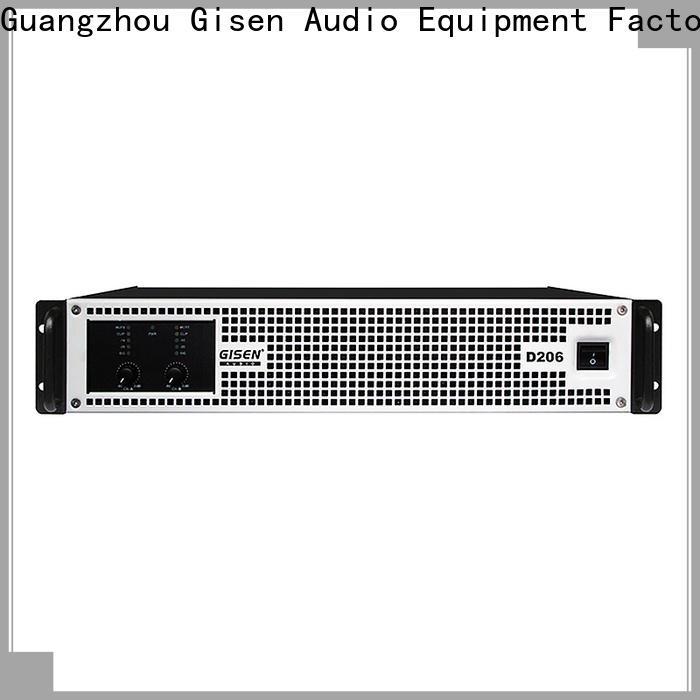 Gisen advanced sound digital amplifier wholesale for stadium