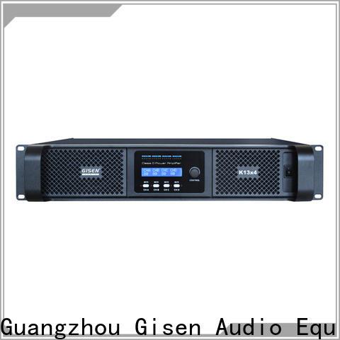 Gisen guangzhou class d stereo amplifier manufacturer for stadium