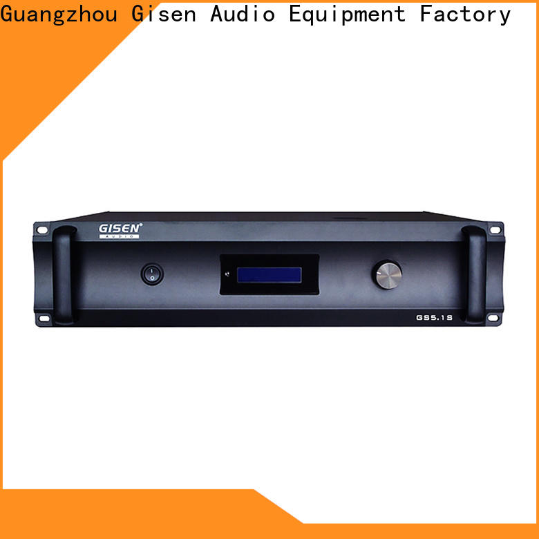 Gisen theatre 2 channel home stereo amplifier manufacturer for ktv