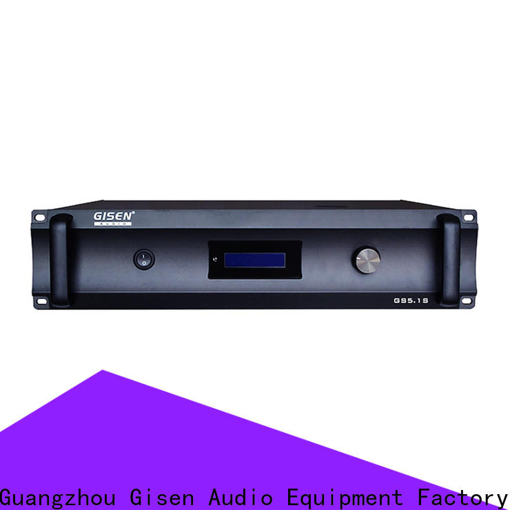 Gisen low distortion 2 channel home stereo amplifier exporter for private club