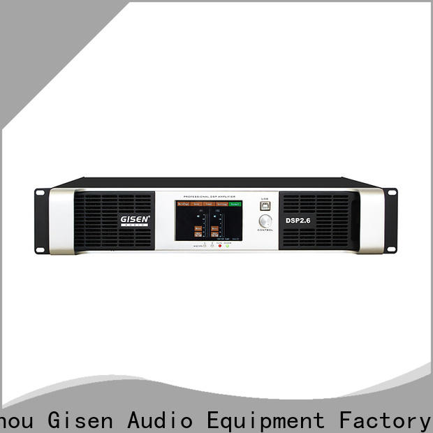 Gisen 2 channel multi channel amplifier supplier for stage