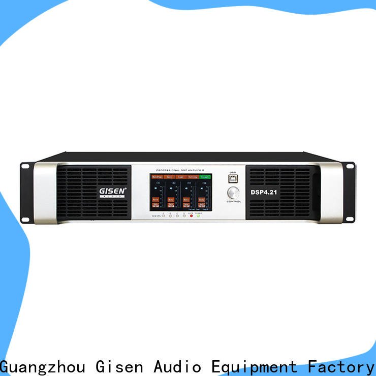 Gisen multiple functions dj power amplifier supplier for stage