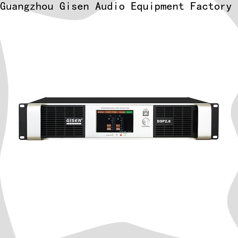 Gisen 2 channel dsp amplifier manufacturer