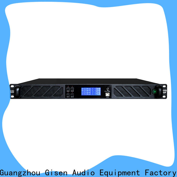 Gisen high quality dsp amplifier factory