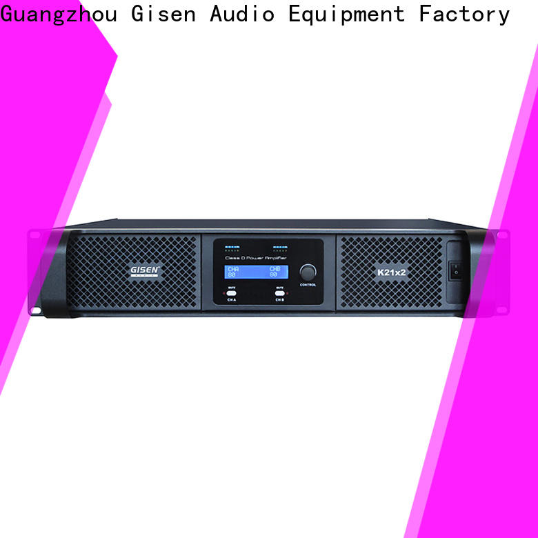 Gisen amplifier top 10 power amplifiers supplier for stadium