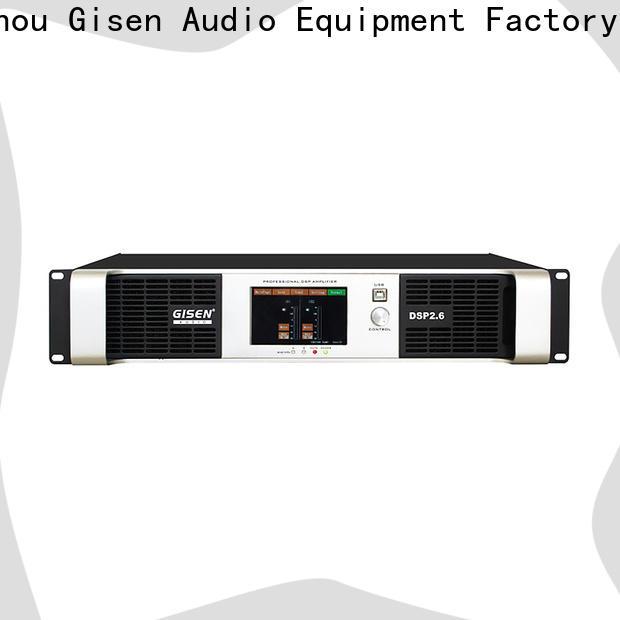 Gisen high quality dj power amplifier manufacturer for performance