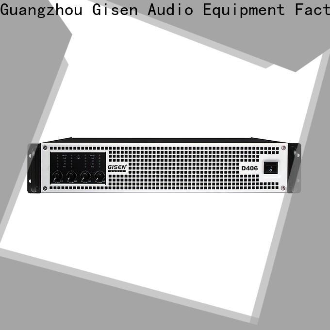 Gisen full range hifi class d amplifier manufacturer for stadium
